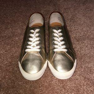 Gold Metallic Sneakers G. H. Bass & Co.